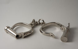 Old handcuffs Stock Photography