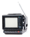 Old handheld radio and television set isolated Royalty Free Stock Photography