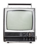 Old handheld television Royalty Free Stock Photo