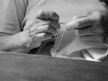 Old handicraft. Persons and details of life as an artisan Royalty Free Stock Photo