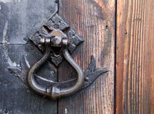 Old handle. Door detail royalty free stock photography