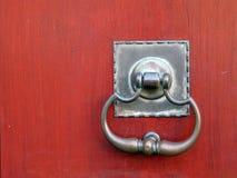 Old handle. Old door detail Stock Photo