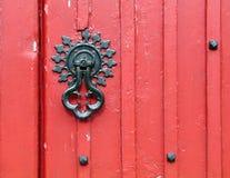 Old handle. Church door detail Stock Photography