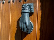 Old handle. On the door Royalty Free Stock Photo