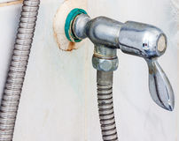 Old handle faucet Royalty Free Stock Image