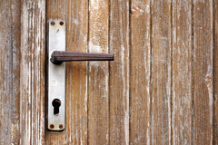 An old handle with keyhole royalty free stock image