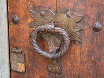 Old handle. On the door Royalty Free Stock Images