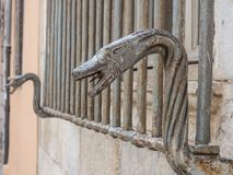 Old handle. On the door Stock Photography