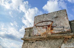 Old Handmade basketball board - Croatia Stock Photography