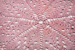 Old handmade crochet doily Stock Photos