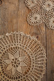 Old handmade crochet doily Stock Photography