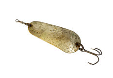 Old handmade fishing spoon, Stock Photos