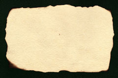 Old handmade paper. With burnt edges Royalty Free Stock Images