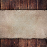 Old handmade paper sheet on wooden background Royalty Free Stock Images
