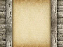 Old handmade paper and wood Stock Photo