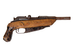 Old handmade shotgun Stock Images