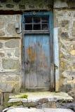 An old handmade wooden door. stock image