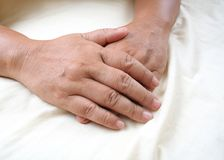 Old hands. stock photography