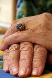 Old Hands. Of a 93 years old grandmother with a lot of wrinkles Stock Photography