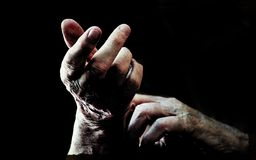 Old hands back royalty free stock photography