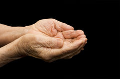 The old hands begging Stock Images