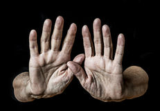 Old hands Stock Photography