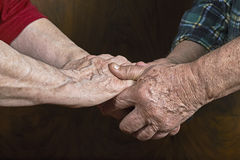 Old hands Stock Images