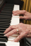Old Hands on the Piano Royalty Free Stock Image