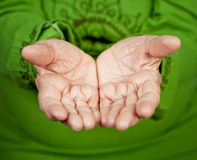 Old hands of senior woman Royalty Free Stock Photo