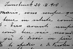 Old handwriting Stock Images