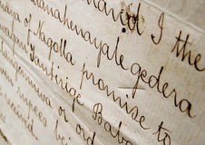 Old handwriting Stock Photos