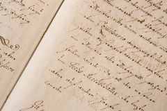 Old Handwriting Royalty Free Stock Photo