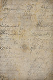 Old handwriting and arithmetic Royalty Free Stock Photography