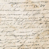 Handwriting - circa 1915 Royalty Free Stock Images