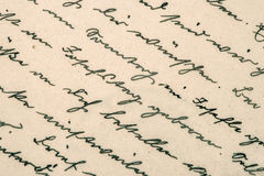 Old handwriting. grunge paper background Stock Photo