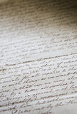 Old Handwritten Buisness Letter Royalty Free Stock Photography