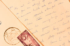 Old handwritten letter Stock Photo