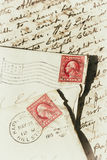 An old handwritten letter. Stock Images