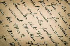 Old handwritten text in german language. From ca. 1896. grunge vintage background. retro style toned picture Royalty Free Stock Image