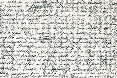 Old handwritten text in italian language Royalty Free Stock Photos