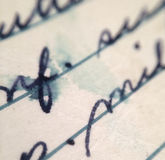 Old Handwritting Macro Royalty Free Stock Photos
