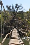 Old hanging bridge Stock Photography