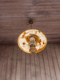Old Hanging Lamp. And old wood wall Royalty Free Stock Photo