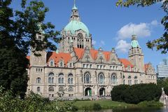 Old Hannover town hall Stock Image