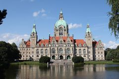 Old Hannover town hall Royalty Free Stock Images