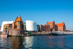 Old Hanseatic city. View from the harbour royalty free stock image