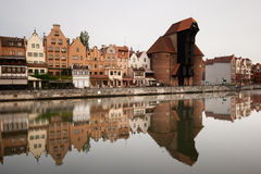 Old Hanzeatic Crane. Old Hanzeatic Crane, reflection in water. Gdansk, Poland 2009 Royalty Free Stock Photos