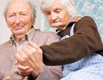 Old happy grandparents together Royalty Free Stock Image