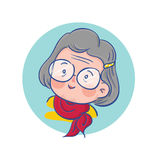 Old Happy Lady Character Royalty Free Stock Photography