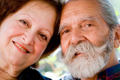 Old happy loving couple Royalty Free Stock Photography